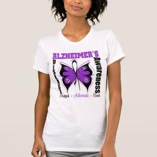 Awareness Butterfly Alzheimers Disease Tee Shirt