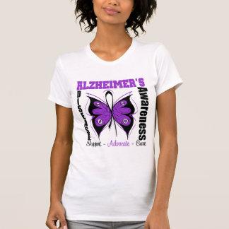 Awareness Butterfly Alzheimers Disease Tee Shirts