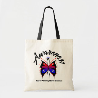 AWARENESS Butterfly Pulmonary Fibrosis Budget Tote Bag