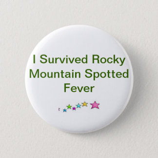 Awareness Button For Rocky Mountain Spotted Fever