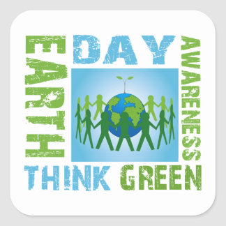Awareness Earth Day Stickers