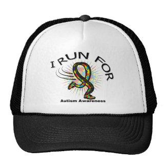 Awareness I Run For Autism Mesh Hat