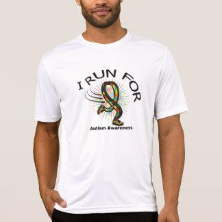 Awareness I Run For Autism T Shirts