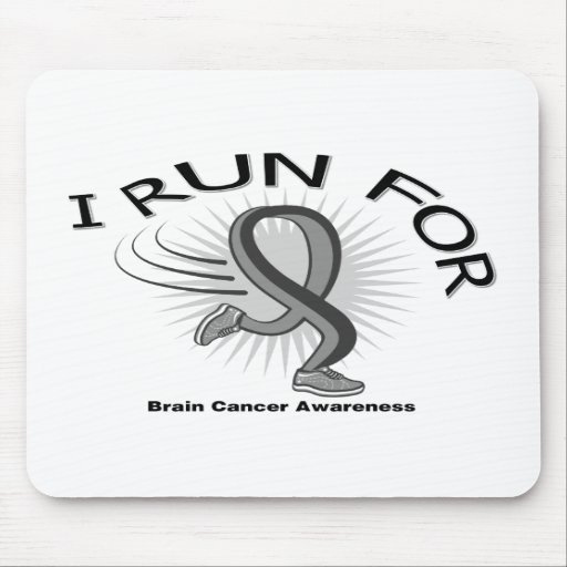 Awareness I Run For Brain Cancer Mouse Pads