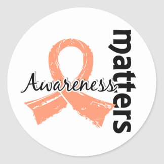 Awareness Matters 7 Endometrial Cancer Classic Round Sticker