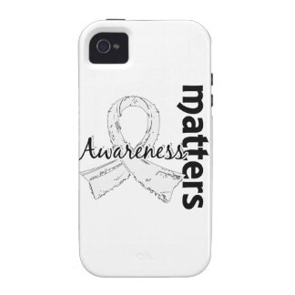 Awareness Matters 7 Lung Cancer iPhone 4 Cases