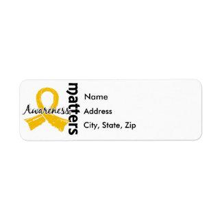 Awareness Matters 7 Neuroblastoma Return Address Label