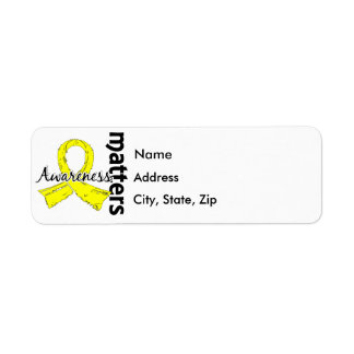 Awareness Matters 7 Testicular Cancer Return Address Label