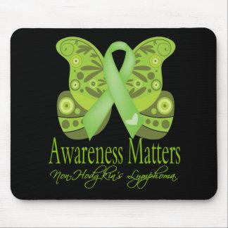 Awareness Matters - Butterfly NonHodgkins Lymphoma Mouse Pad