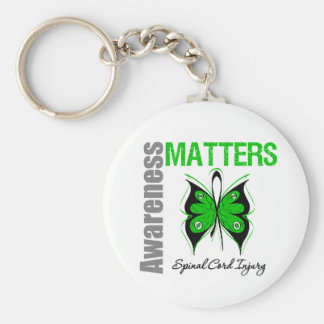 Awareness Matters Butterfly Spinal Cord Injury Keychain