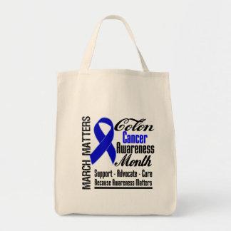 Awareness Matters Colon Cancer Month Canvas Bag