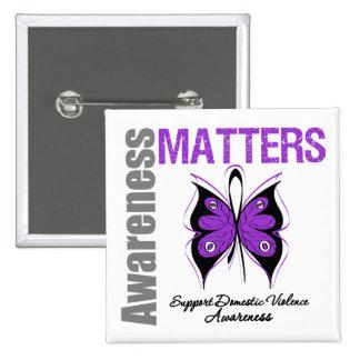 Awareness Matters Domestic Violence 15 Cm Square Badge