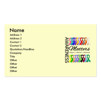 Awareness Matters Ribbons Of Cancer Double-Sided Standard Business Cards (Pack Of 100)
