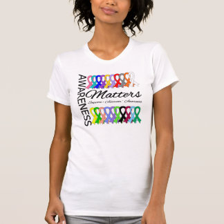 Awareness Matters Ribbons Of Cancer T Shirt