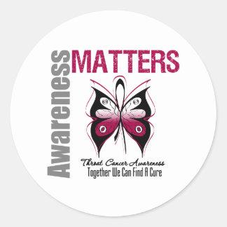 Awareness Matters Throat Cancer Round Sticker
