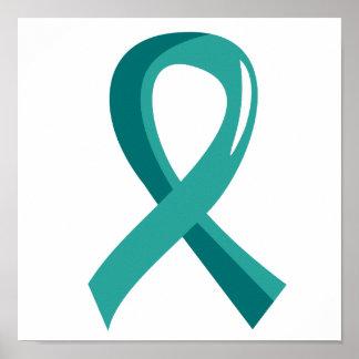 Awareness Ribbon 3 Batten Disease Poster