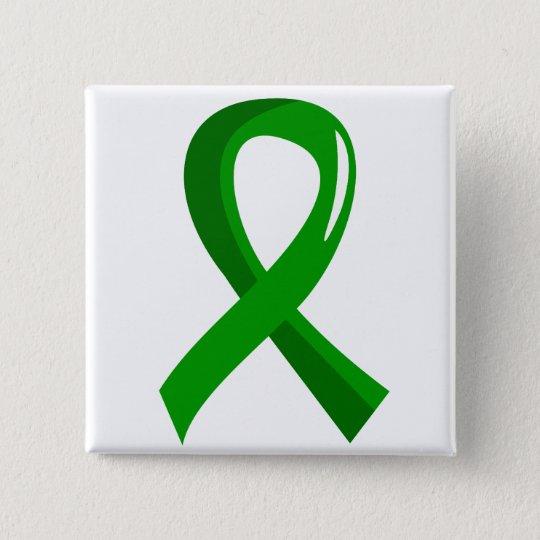 Awareness Ribbon 3 Traumatic Brain Injury TBI 15 Cm Square Badge