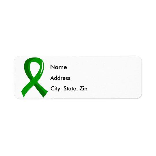 Awareness Ribbon 3 Traumatic Brain Injury TBI Return Address Label