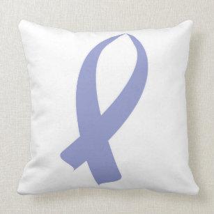 Awareness Ribbon (Periwinkle) Cushion