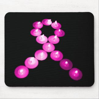Awareness Ribbon Pink Candles Mouse Pad