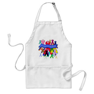 Awareness Ribbons for Universal Health Care Adult Apron