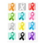 Awareness Ribbons Postcard