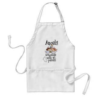 Awareness tee angels are made standard apron