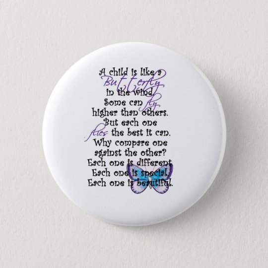 Awareness tee Butterfly Child copy 6 Cm Round Badge