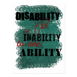 Awareness tee disability is copy postcard