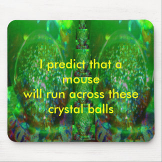 Awash in Cosmic Green Mouse Pad