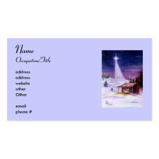 Away In a Manger Avery Business Card