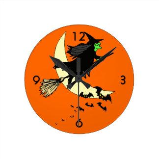 Away on a Broom Clocks