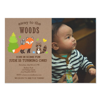Away to the Woods Birthday Boy Invitation