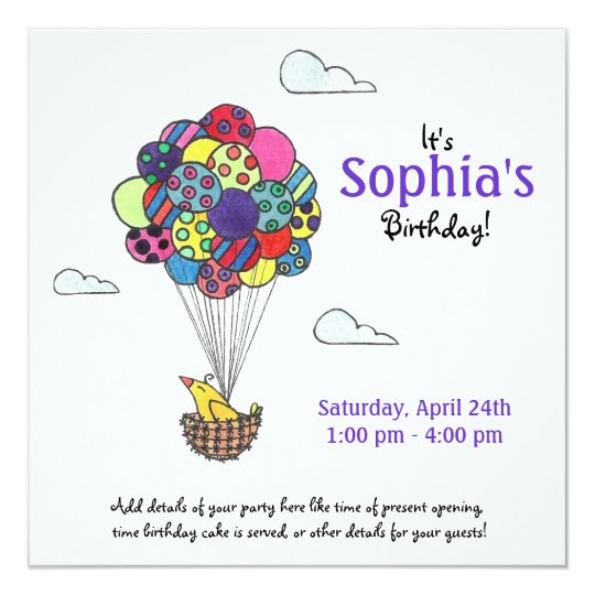 Away We Go, Birthday Party Invitation