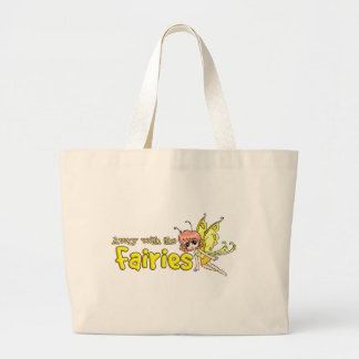 Away with the fairies large tote bag
