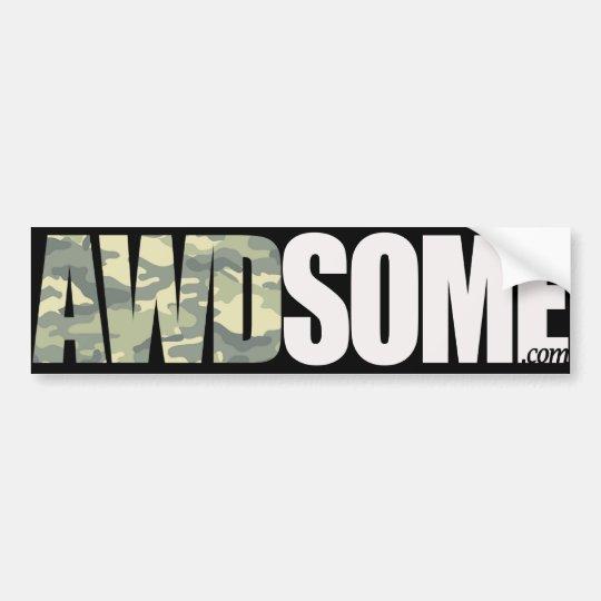 awdsome army bumper sticker