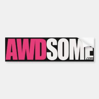 awdsome stickers pink black logo 1 bumper sticker