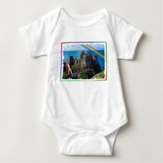 Awe Inspiring Dunluce Castle, Northern Ireland Baby Bodysuit