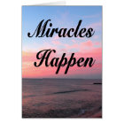 AWE INSPIRING MIRACLES HAPPEN SUNRISE PHOTO CARD