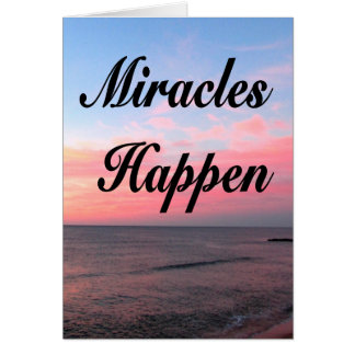 AWE INSPIRING MIRACLES HAPPEN SUNRISE PHOTO CARD