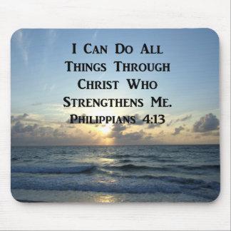 AWE-INSPIRING PHILIPPIANS 4:13 SCRIPTURE VERSE MOUSE MAT