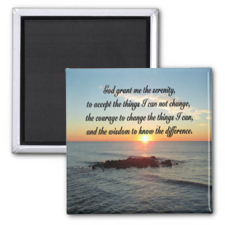 AWE INSPIRING SERENITY PRAYER DESIGN MAGNET