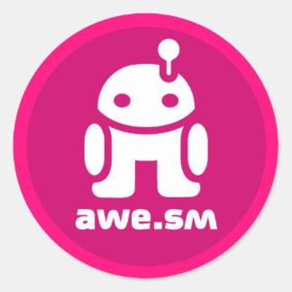 awe.sm-o Sticker (Magenta)
