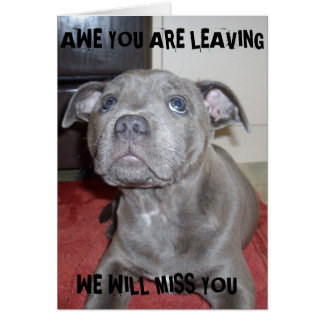 Awe_Your_Leaving_Staffordshire_Puppy_Miss_You_Card Card