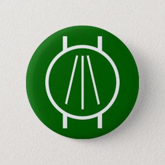 Awen on Blk 6 Cm Round Badge