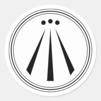 Awen Plain Round Stickers
