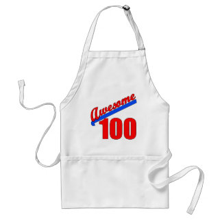 Awesome 100 Awesome at 100 Years Old Standard Apron
