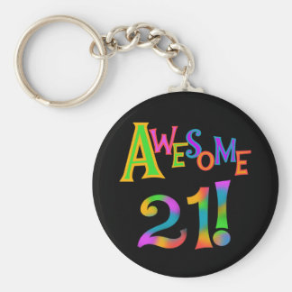 Awesome 21 Birthday T-shirts and Gifts Key Ring