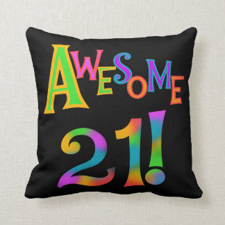 Awesome 21 Birthday T-shirts and Gifts Throw Pillow