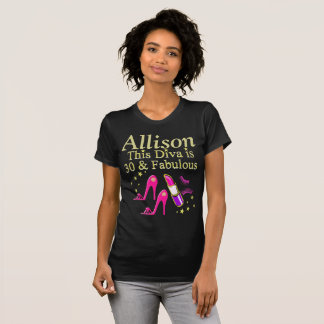 AWESOME 30TH BIRTHDAY DIVA PERSONALIZED T SHIRT